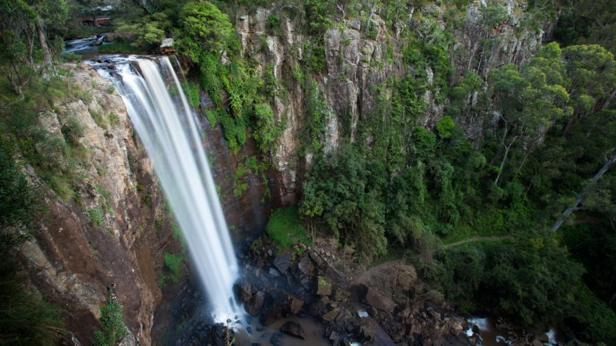 nature trees waterfalls wallpaper