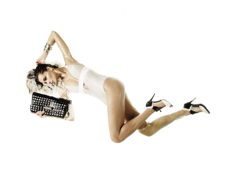 brunettes blondes women panties bra Fernanda Motta wallpaper