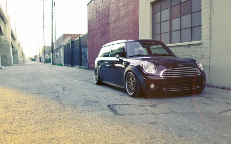 Sun cars buildings roads mini cooper black cars wallpaper