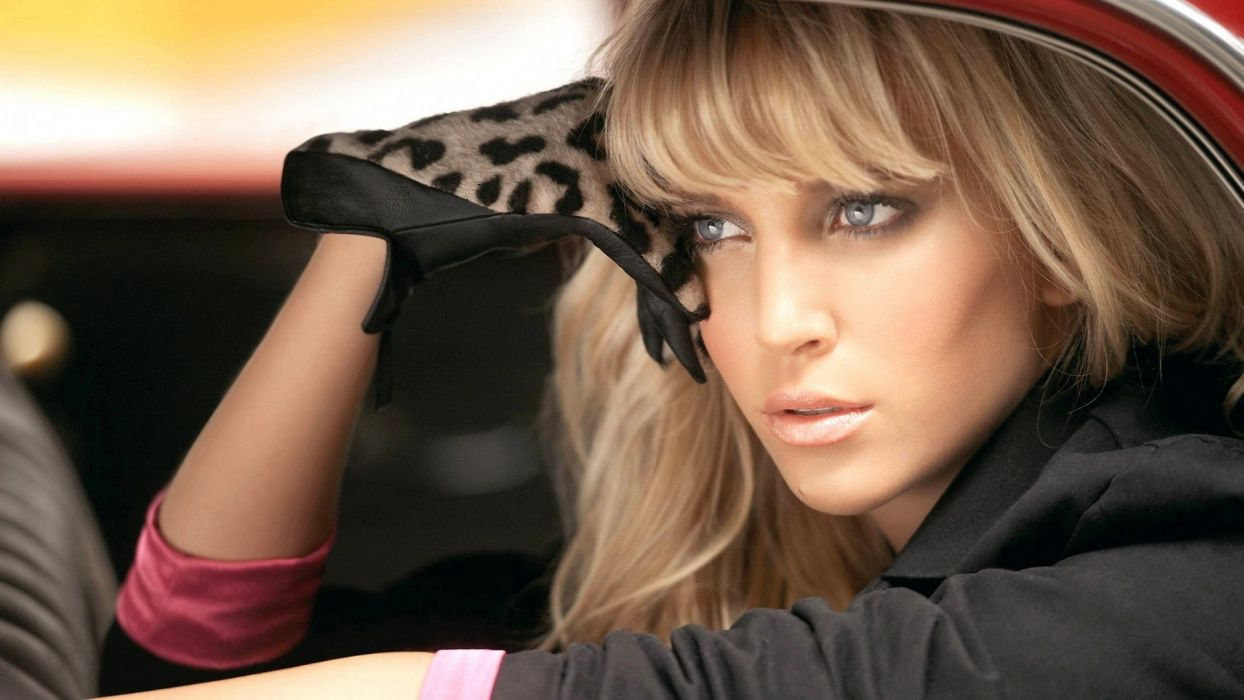 blondes women gloves blue eyes models Luisana Lopilato faces wallpaper