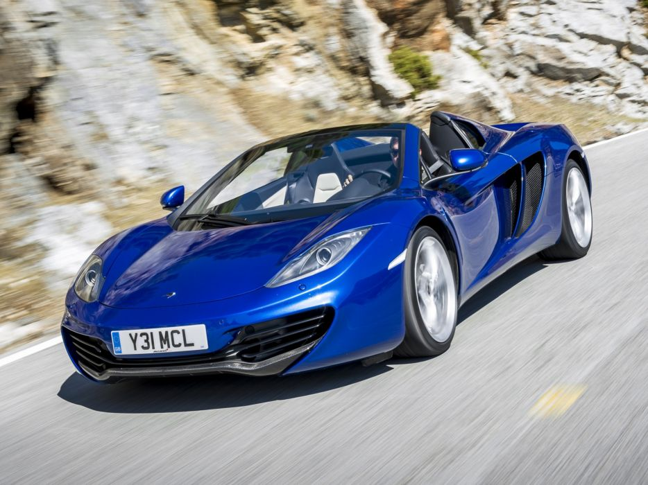 cars McLaren blue cars mp4-12c Spider wallpaper