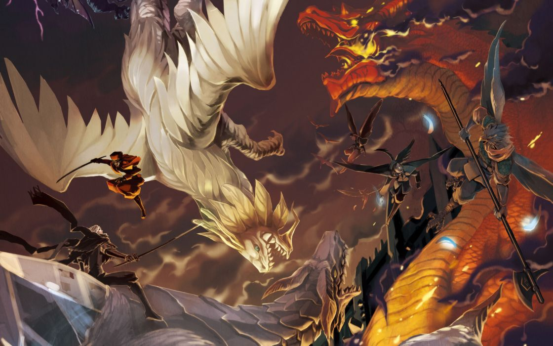 wings dragons artwork wallpaper