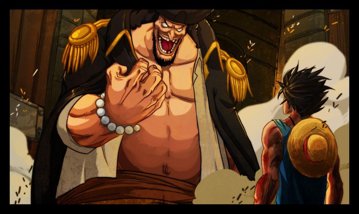 One Piece (anime) Monkey D Luffy Blackbeard wallpaper
