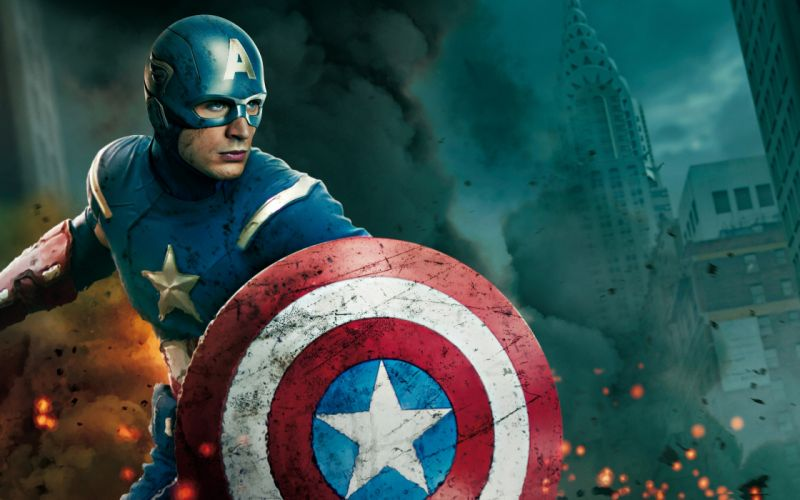 Captain America superheroes shield Chris Evans movie posters Steve Rogers The Avengers (movie) wallpaper
