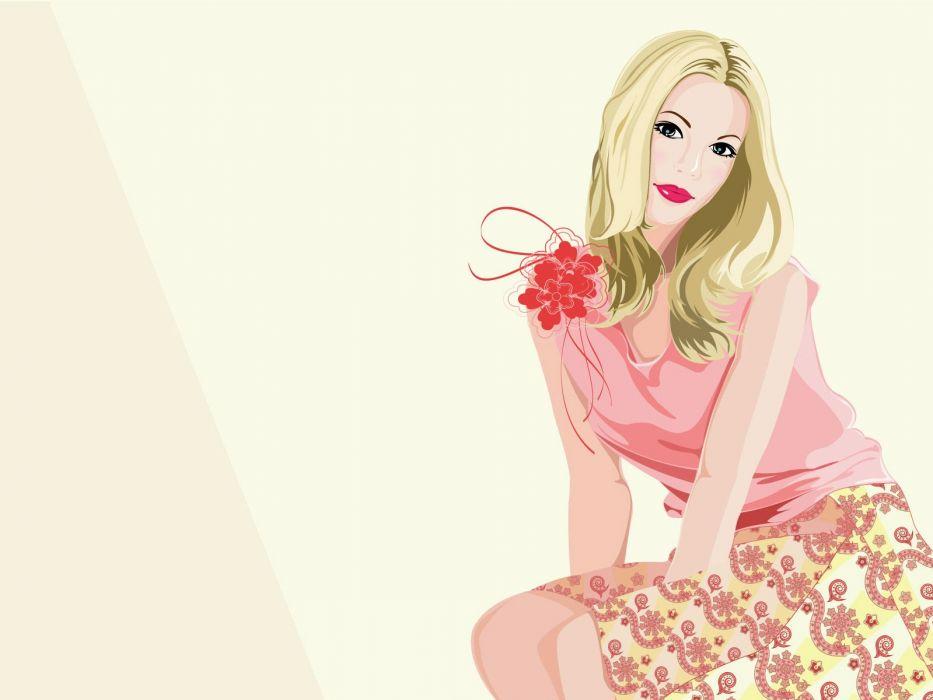 blondes women vectors wallpaper