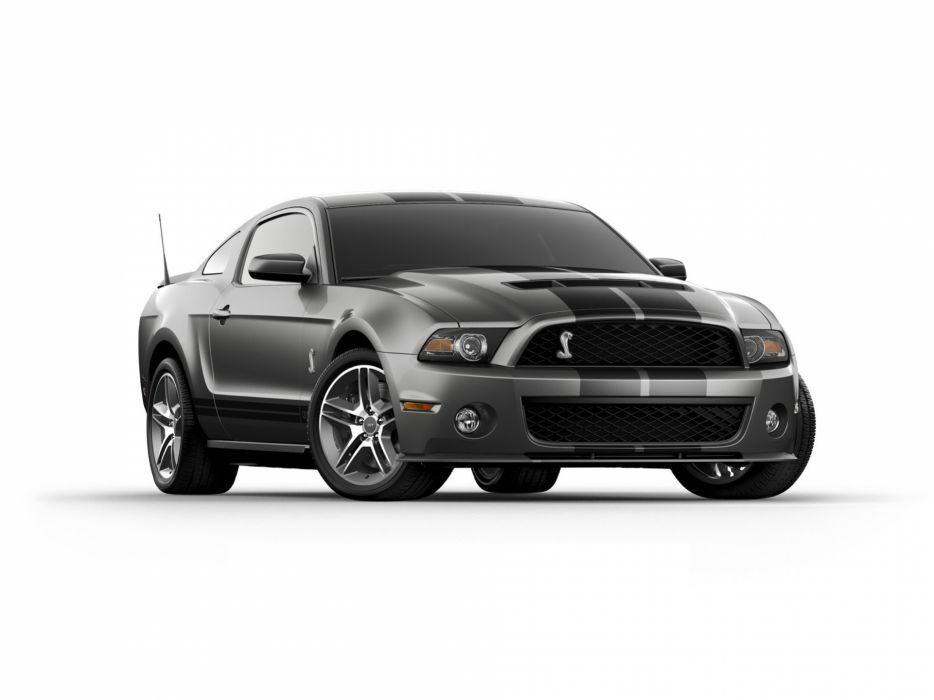 black gray muscle cars front Ford Shelby stripes Ford Mustang Shelby GT500 wallpaper