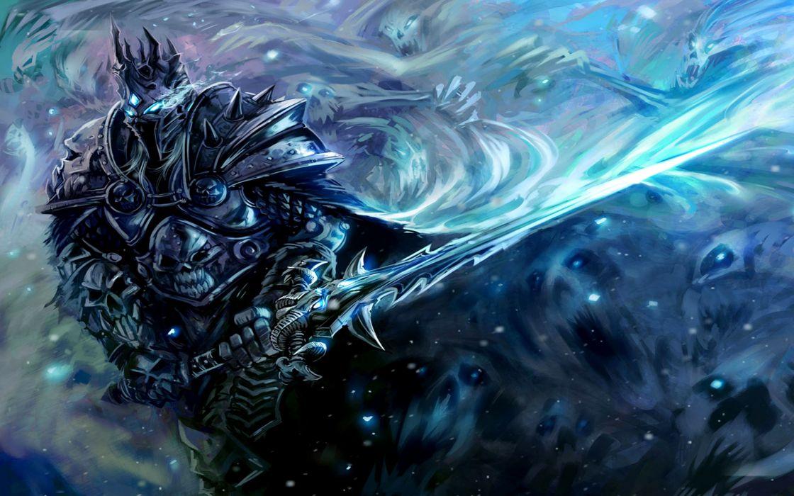 Video Games Lich King Fantasy Art Armor Arthas Artwork Swords