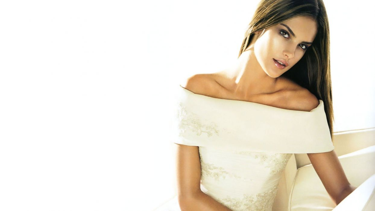 brunettes women models Alessandra Ambrosio white background wallpaper