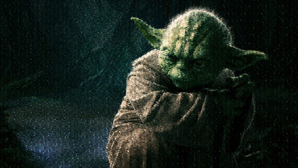Star Wars movies mosaic screenshots artwork Yoda photomosaic wallpaper