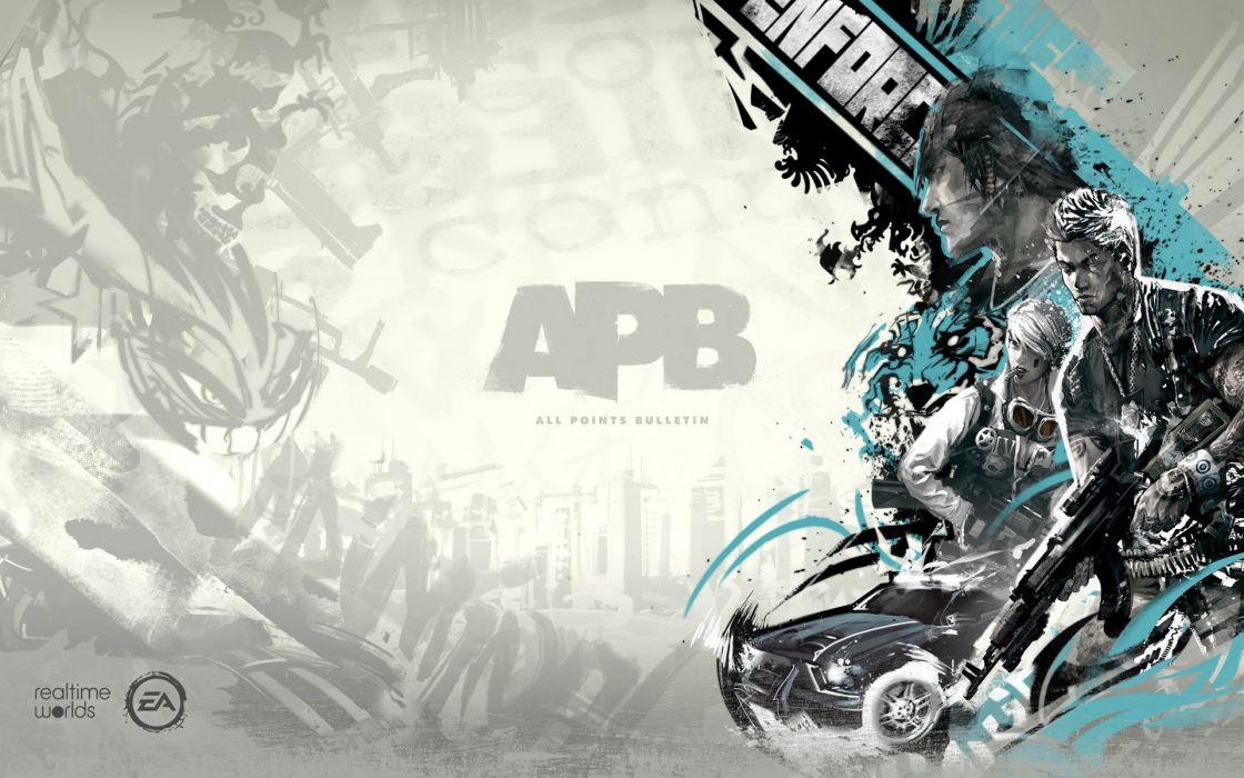 video games APB Electronic Arts wallpaper