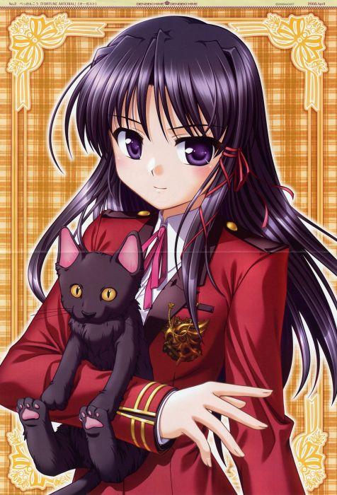cats Fortune Arterial: Akai Yakusoku anime girls Kuze Kiriha wallpaper