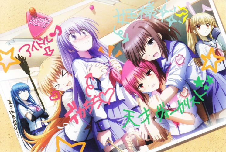 Angel Beats! Hisako Iwasawa Masami Shiina (Angel Beats) Yusa scans Irie Miyuki Sekine Shiori wallpaper