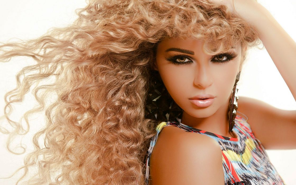 curly hair myriam fares wallpaper