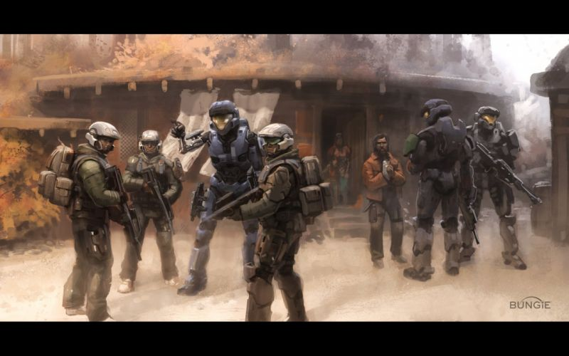video games Halo science fiction assault rifle Bungie Marines wallpaper