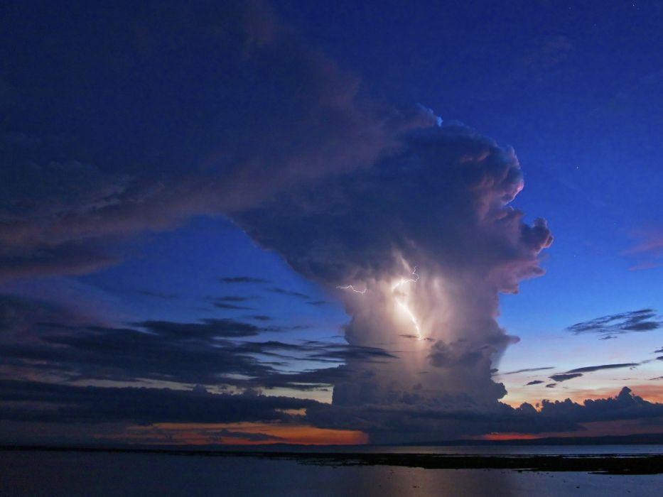 nature storm evening Kenya wallpaper