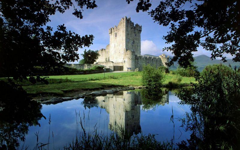 landscapes castles architecture Ireland National Park Ross Castle wallpaper