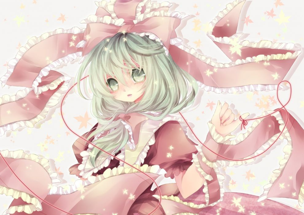 video games Touhou dress green eyes green hair Kagiyama Hina wallpaper