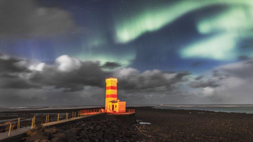 lights Iceland wallpaper