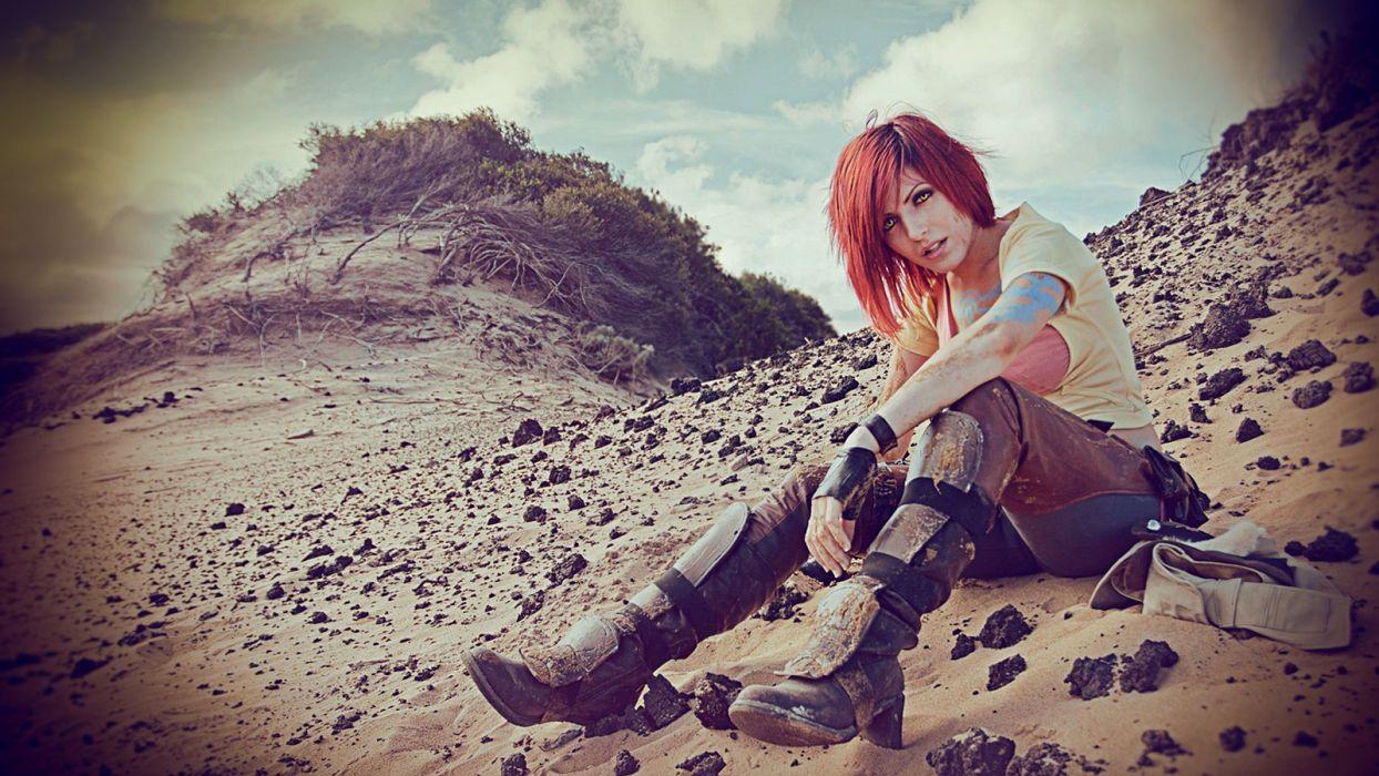 women nature cosplay Borderlands 2 game wallpaper