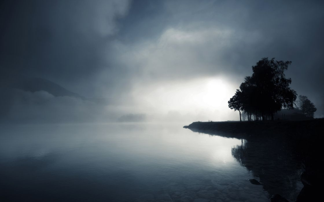 nature lake landscape reflection fog ultrahd 4k wallpaper wallpaper