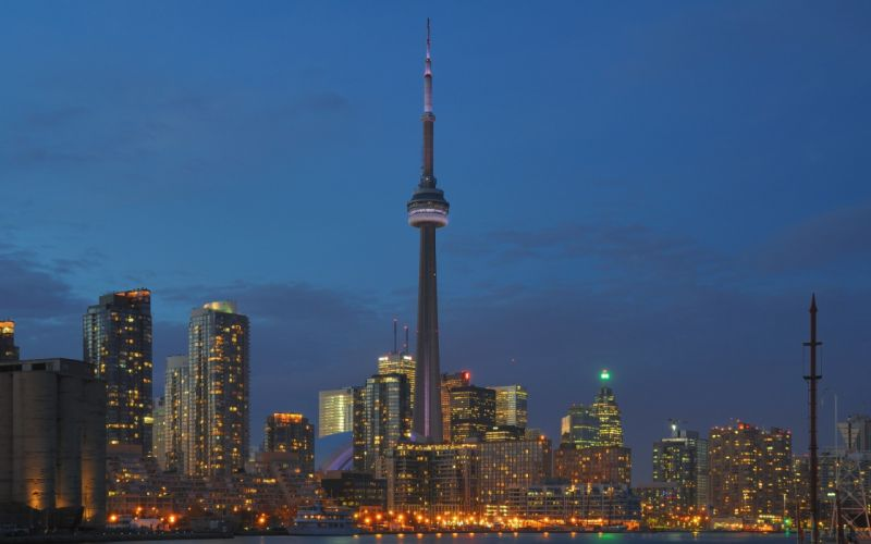 cityscapes buildings Toronto CN Tower cities wallpaper