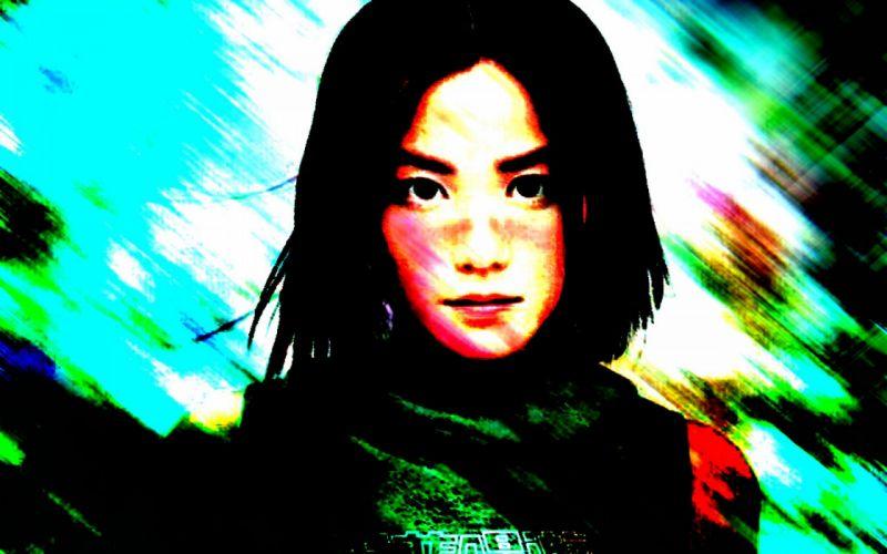 women celebrity Chinese short hair Asians singers Faye Wong black hair wallpaper