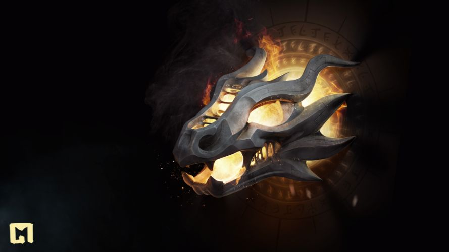 dragons fire wallpaper