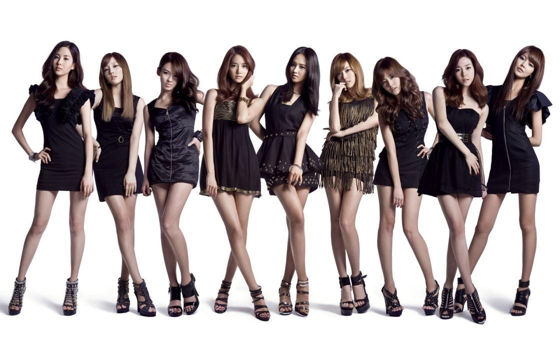 women Girls Generation SNSD celebrity Asians simple background wallpaper