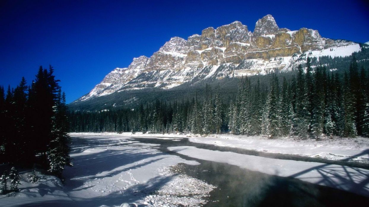 mountains Canada Alberta Banff National Park National Park castle wallpaper