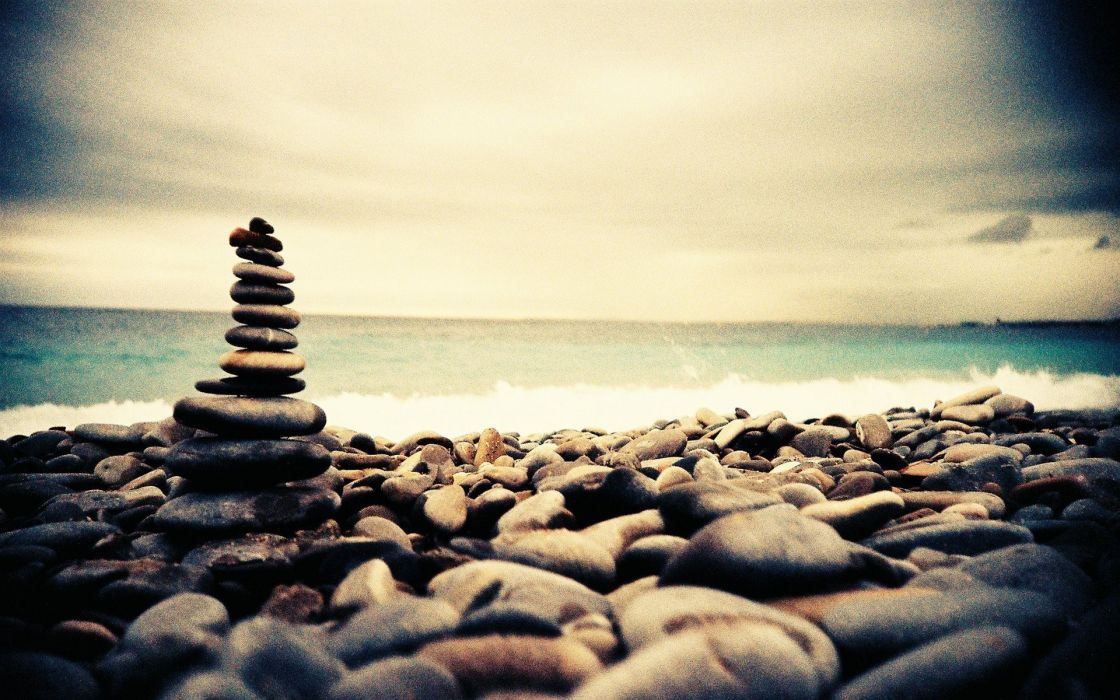 stones lomo Style beaches wallpaper