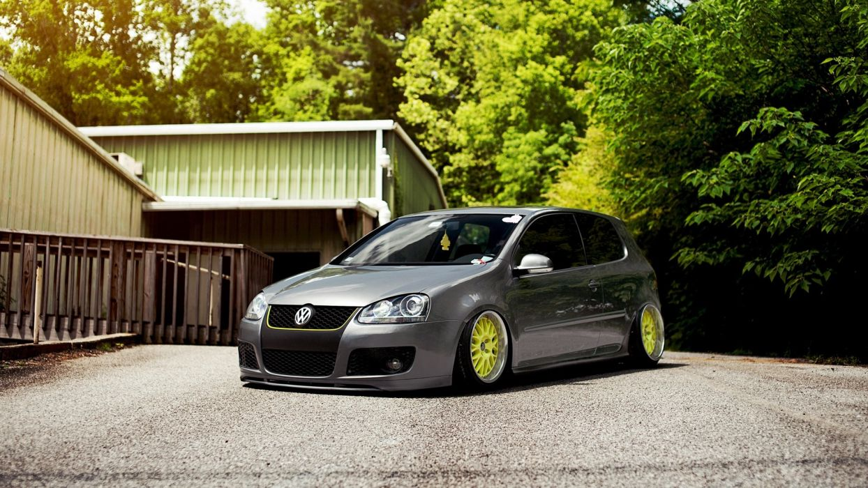 cars vehicles Volkswagen Golf Volkswagen golf R wallpaper