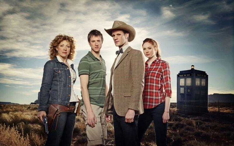 TARDIS Matt Smith Karen Gillan Amy Pond Eleventh Doctor Doctor Who River Song Alex Kingston Rory Williams wallpaper