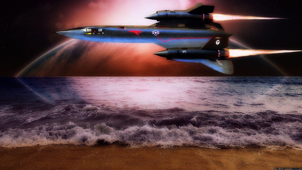 aircraft military SR-71 Blackbird aviation wallpaper