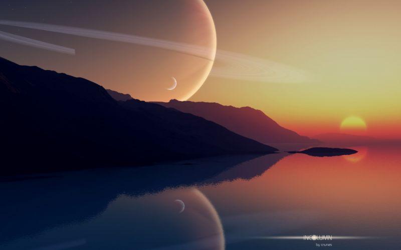 fantasy art alien landscapes reflections wallpaper