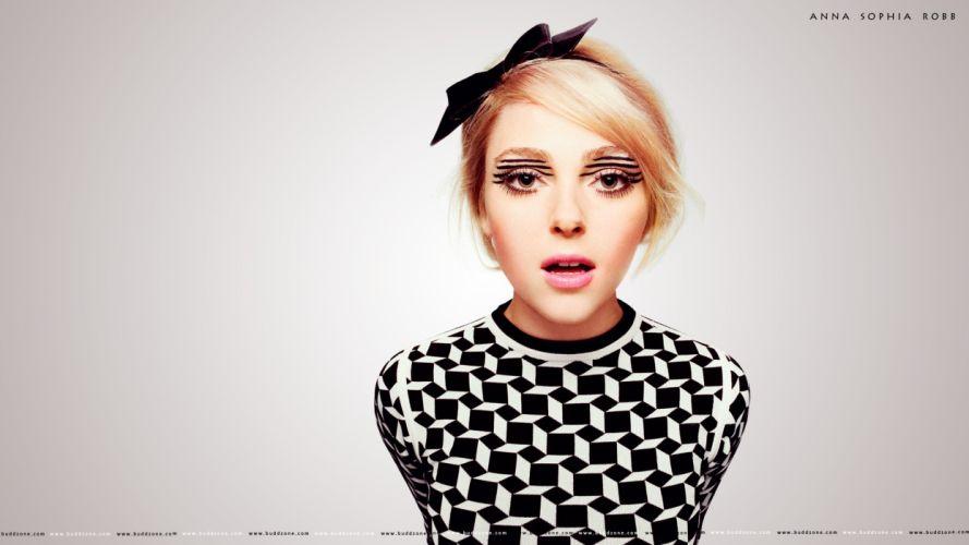 brunettes women actress Hollywood Anna Sophia Robb photo shoot models wallpaper