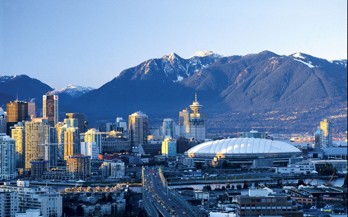 cityscapes buildings Vancouver wallpaper