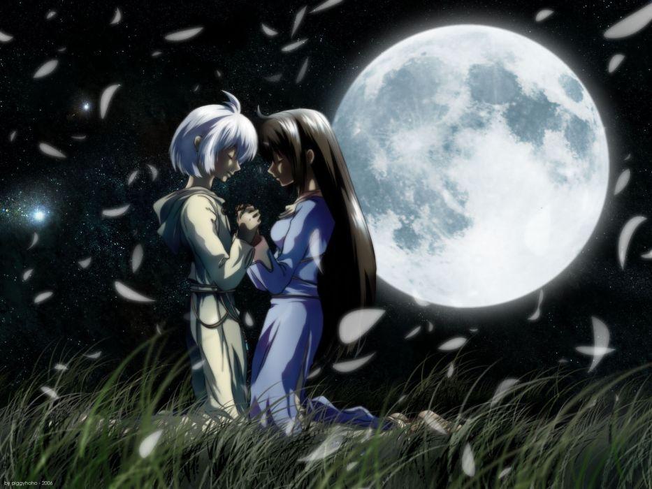 Sakura kissing yuri anime wallpaper