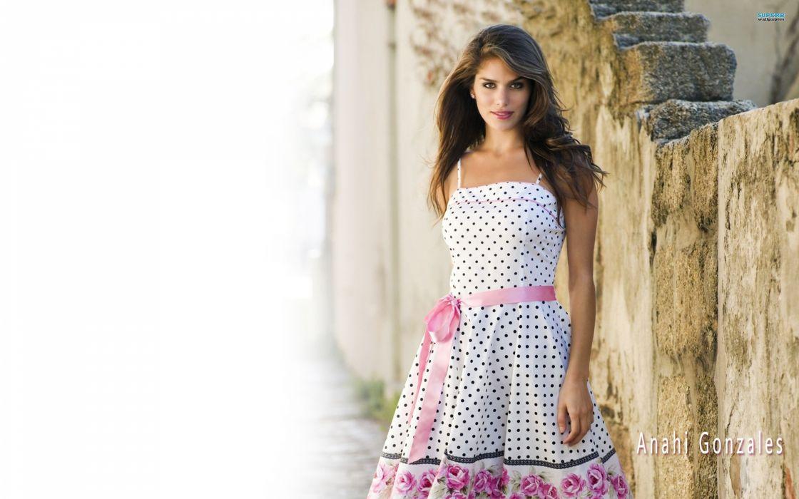 brunettes women dress Anahi Gonzales wallpaper