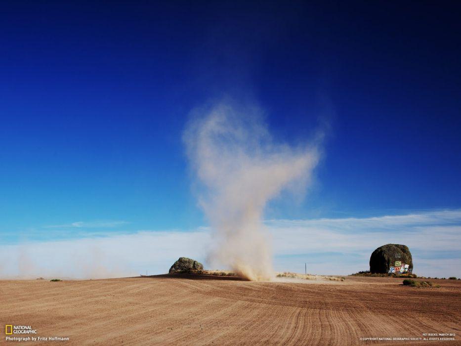 landscapes nature deserts National Geographic Tornado wallpaper