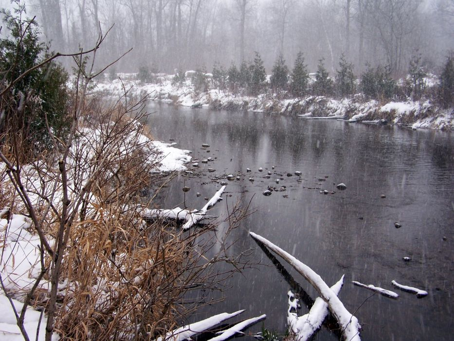 nature winter rivers wallpaper