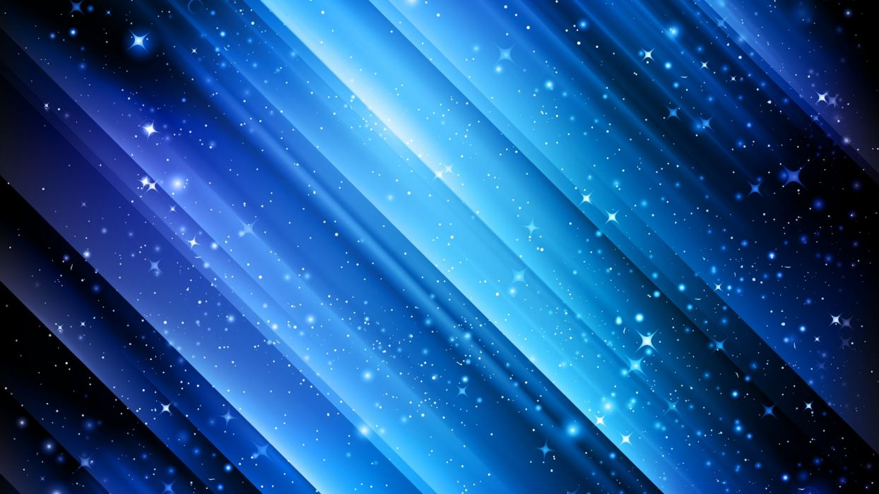 Abstract Blue Winter Snow Stars Vectors Lines Graphics