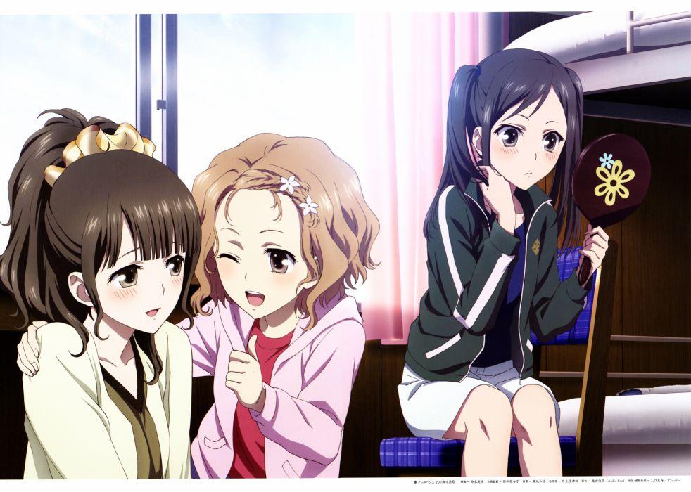 Hanasaku Iroha Matsumae Ohana Tsurugi Minko Oshimizu Nako anime girls wallpaper