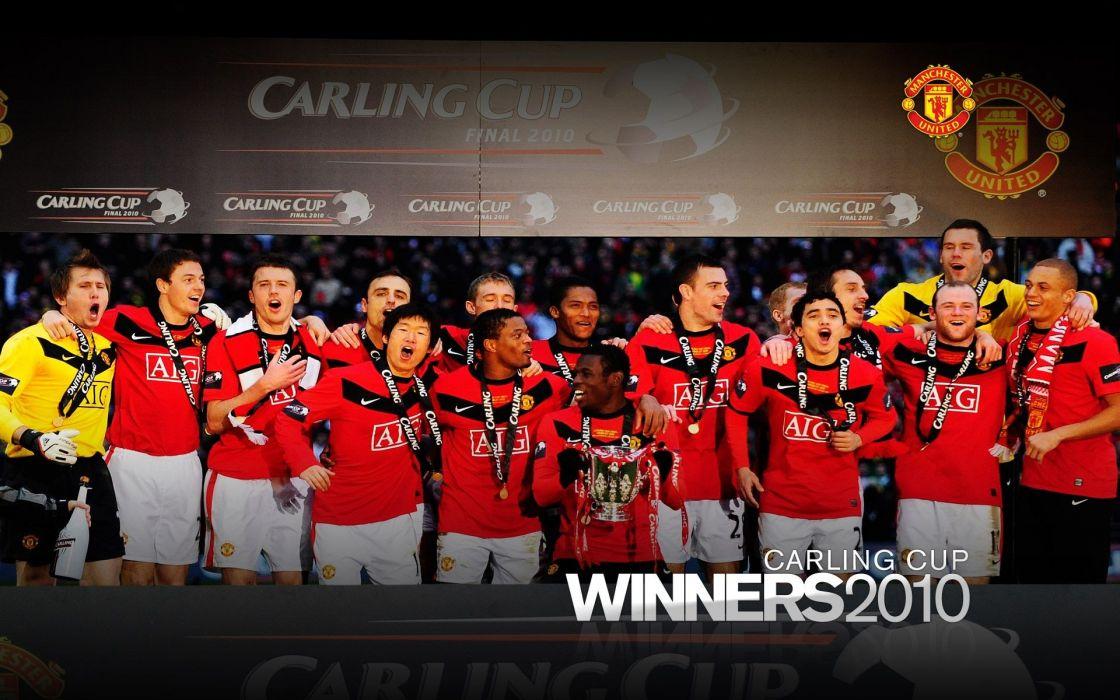 soccer cups alex ferguson Manchester United football teams Carling Cup football legend wallpaper