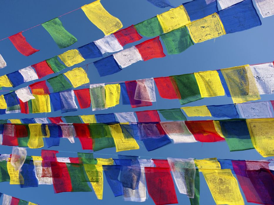 flags Nepal prayer Kathmandu wallpaper