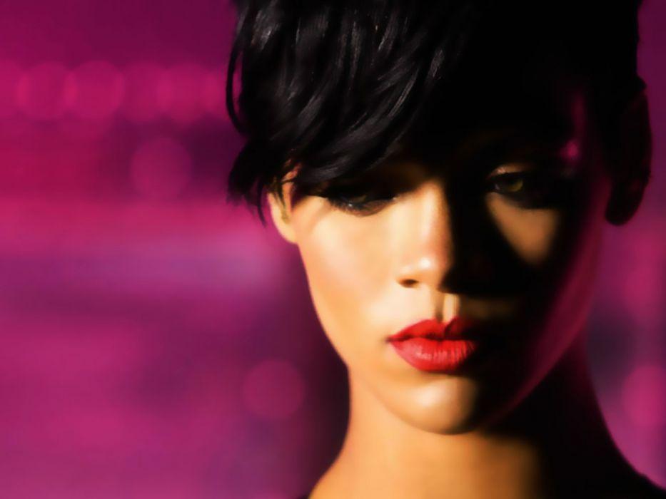 women Rihanna models celebrity singers faces wallpaper