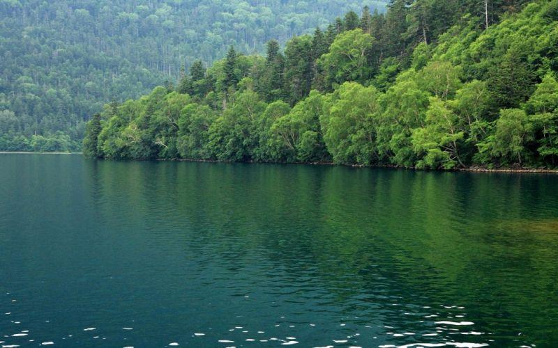 water Japan landscapes lakes wallpaper