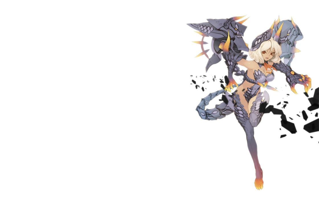tails demons Pixiv armor action anime girls Vulpes Kun wallpaper