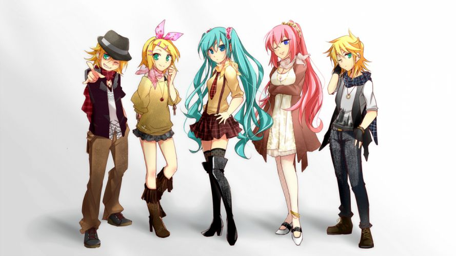 Vocaloid Hatsune Miku Megurine Luka Kagamine Rin Kagamine Len wallpaper