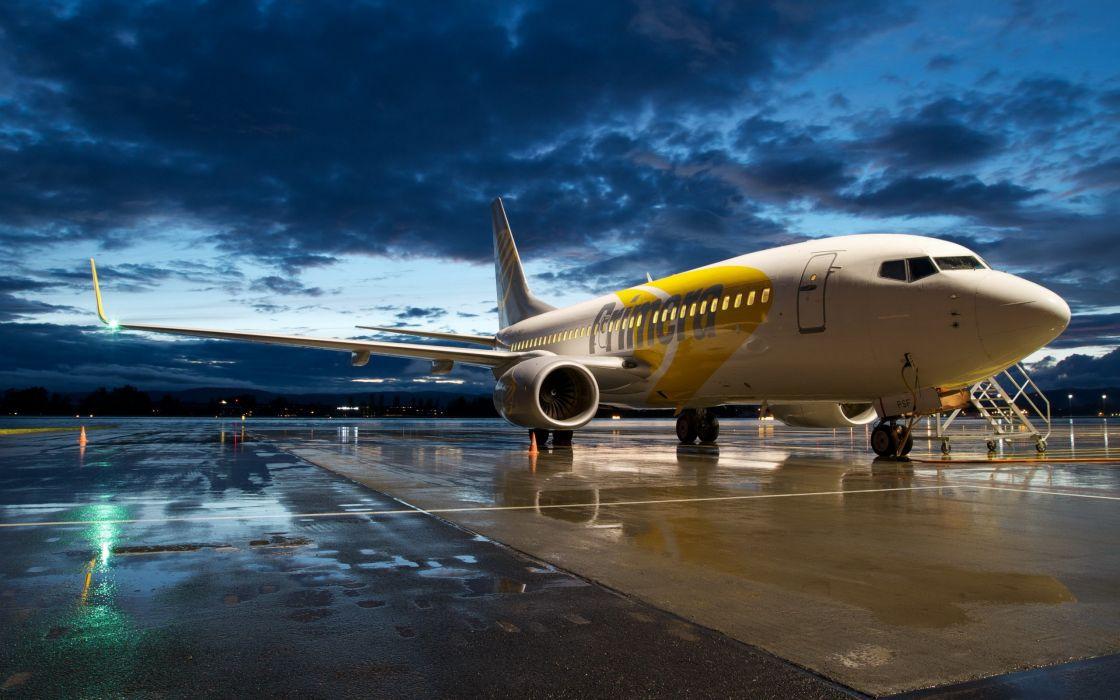 clouds aircraft night Boeing aviation Boeing 737 Boeing 737-700 skies wallpaper
