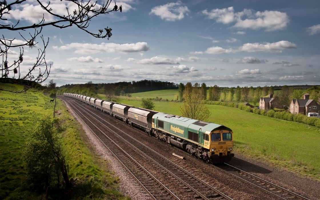 trains skyscapes Class 66 wallpaper